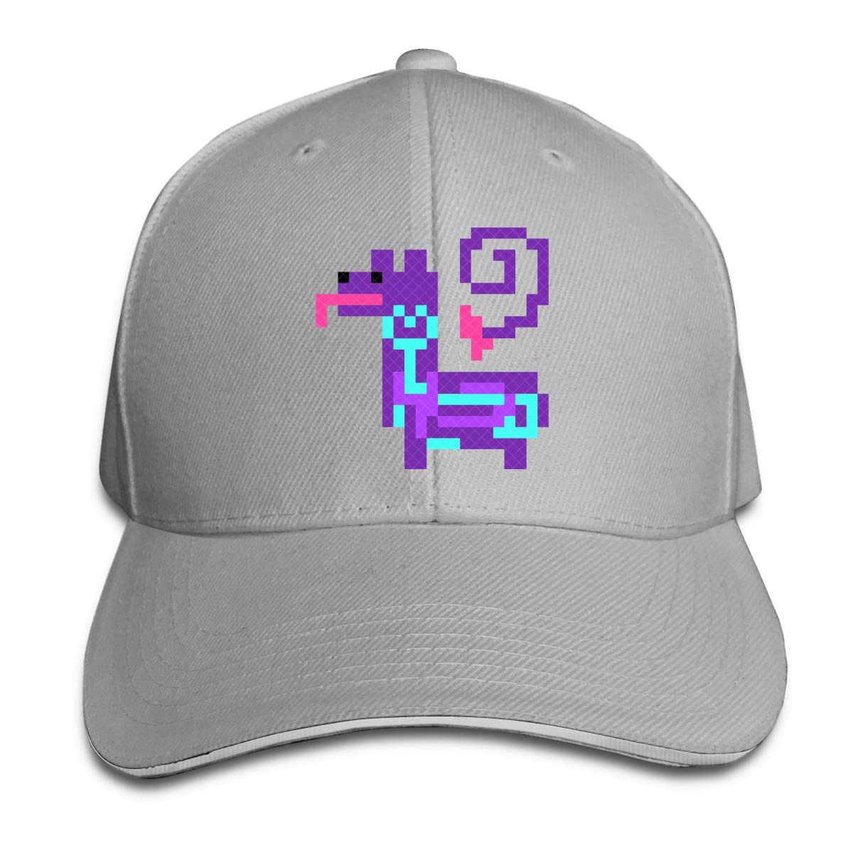 Unisex Casual Pixel Llama Peaked Hat Cotton Duckbill Cap for Mens and Womens