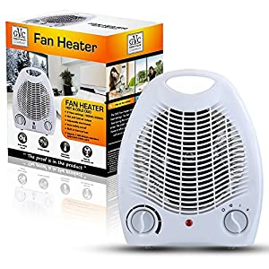 Great value company duo hot and cold fan heater with 2 for Heat setting for home