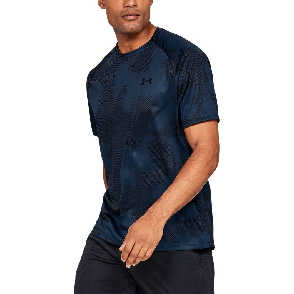 Under Armour Tech 2.0 Printed Short Sleeve, Academy (410)/Black, XX-Large by Under Armour