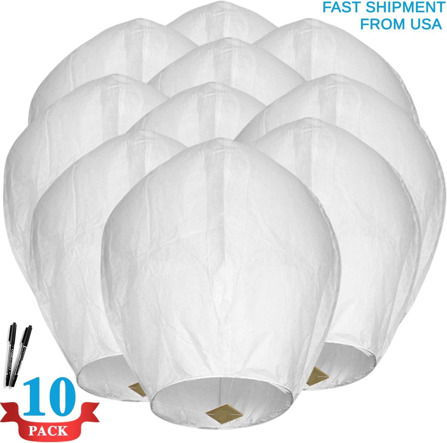 50 Paper Chinese Wish Lantern Sky lantern Party Wedding US Seller fast shipping