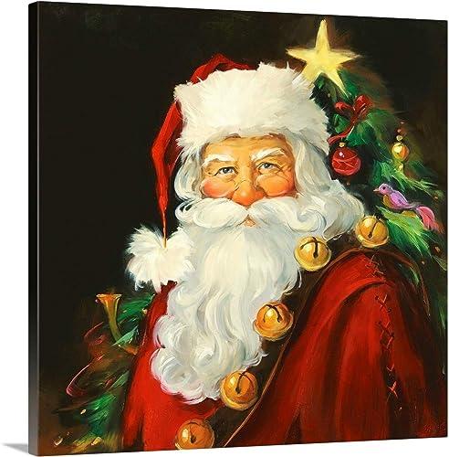 Santa Portrait Canvas Wall Art Print