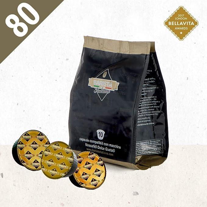 Barista Italiano 80 Dolce Gusto Cápsulas Compatibles (CREMOSO TOP ESPRESSO, 80 Cápsulas, 80 Porciónes): Amazon.es: Alimentación y bebidas