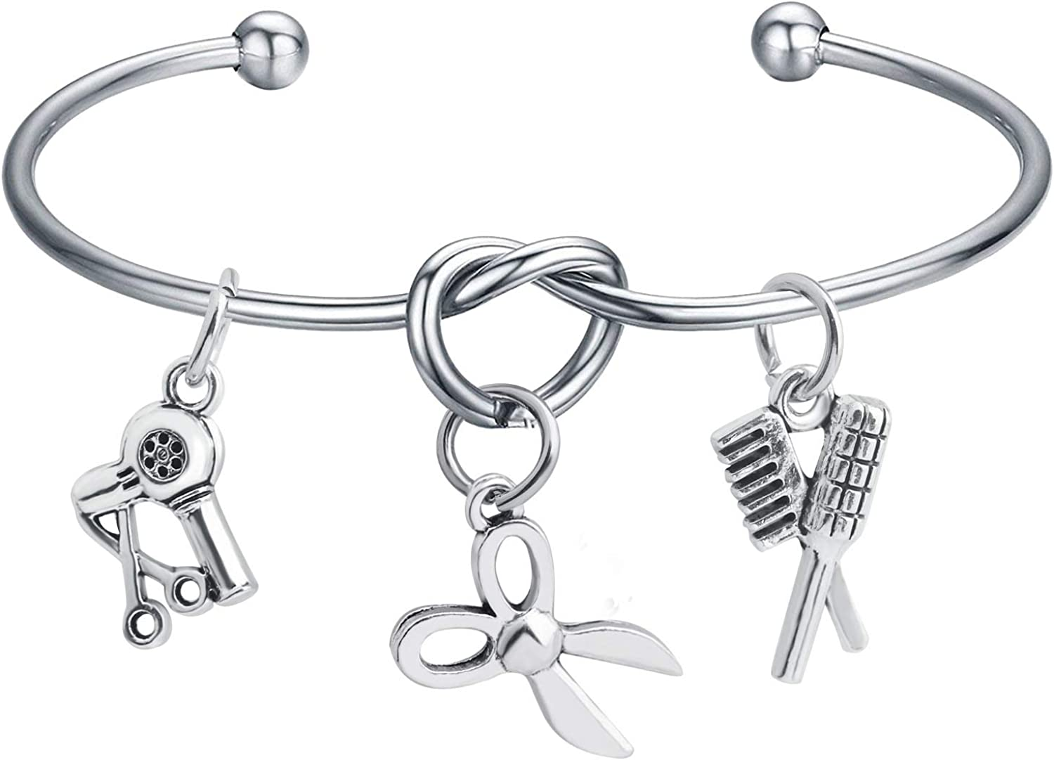 BAUNA Hairdresser Gifts Cosmetology Graduation Gift 2019 Hair Stylist Cuff Bracelet Necklace Gift for Stylist Cosmetology Student