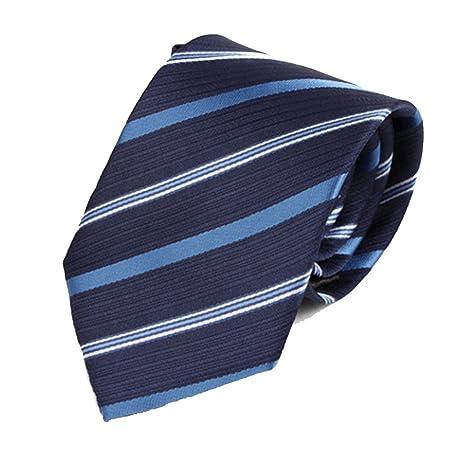 Y-WEIFENG Corbata de Rayas de Tres Colores Corbata de poliéster ...