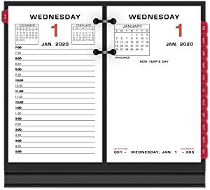 "AT-A-GLANCE 2020 Daily Desk Calendar Refill, 3-1/2"" x 6"", Loose Leaf (E01750)"