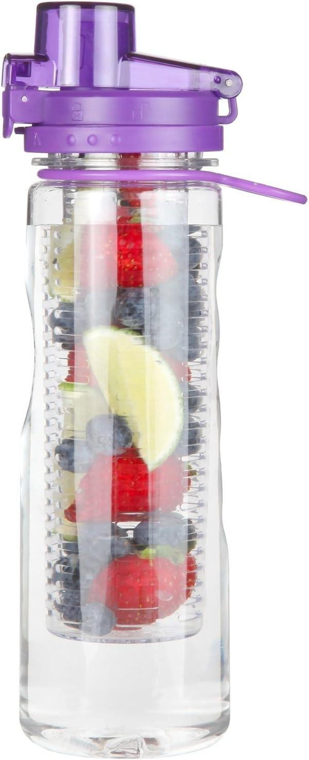 Great Gear Infuser Water Bottle Sport Flip-top BPA-Free Tritan 25 Oz (Multiple Infused Water Color Options)