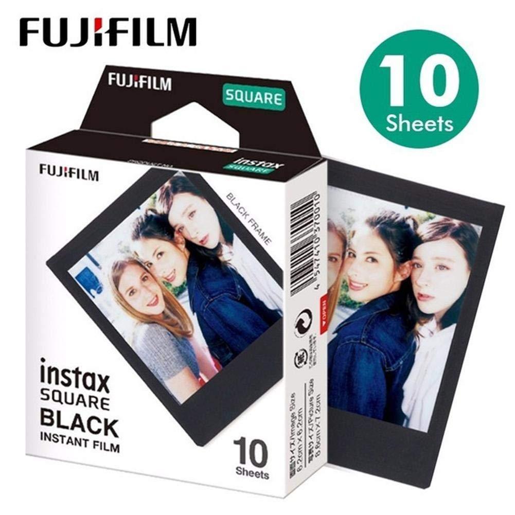 Appareil photo instantané, papier photo film Fujifilm Instax Square pour Instax SQ10 SQ6 SQ20 avec appareil photo instantané Partager SP-3 Imprimante , Bord Blanc/Noir Oshide