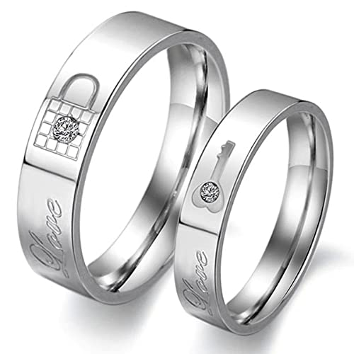 Amazon.com: LAVUMO Couples Rings His Hers Wedding Ring Sets ...