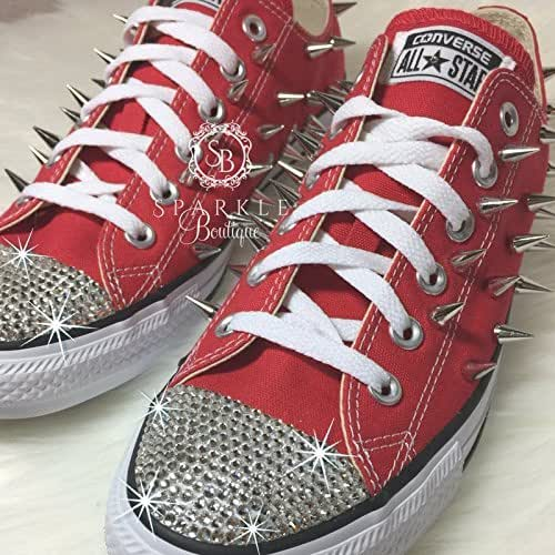 124daca440b7 ... Kids Sparkly Glitter Converse All Stars High Top Bling Crystals Flower  Girls birthday Shoes red best  Sparkle Boutique professional sale 87e1a  4e185 ...