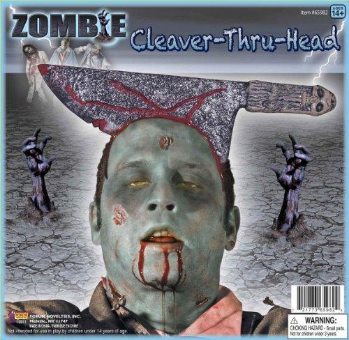 Forum Novelties Cleaver Thru Head Zombie (Cleaver In Head Costume)