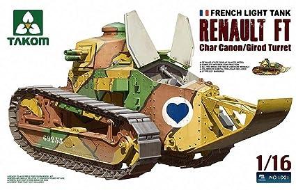 Amazon Com Takom 1 16 French Light Tank Renault Ft Char Canon