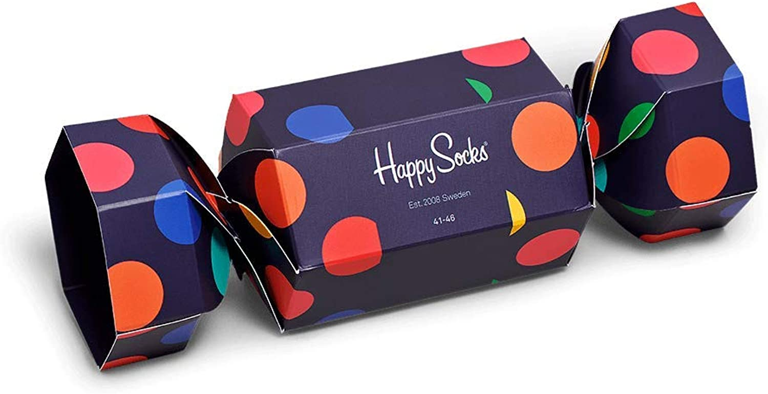 Happy Socks - Medias de fútbol - para hombre Holiday Big Dot ...