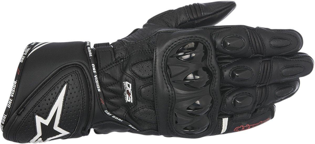 Alpinestars 355651710XL GP Plus R Leather Gloves, Distinct Name: Black, Gender: Mens/Unisex, Primary Color: Black, Size: XL, Apparel Material: Leather