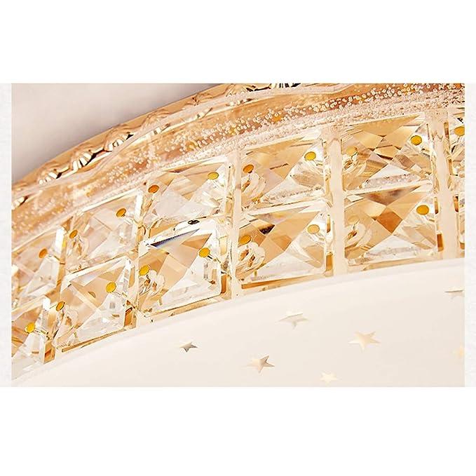 WANG XIN Dormitorio cálido Europeo lámpara de Techo Redonda Simple ...