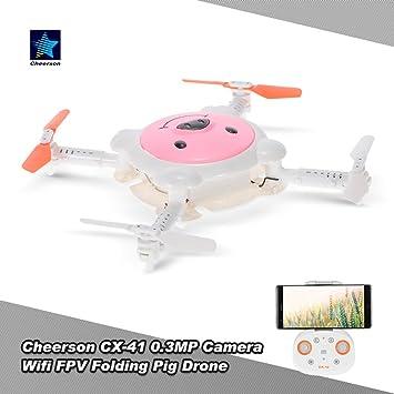 Mobiliarbus Cheerson RC Drone CX-41 0.3MP Cámara WiFi FPV Cerdo ...