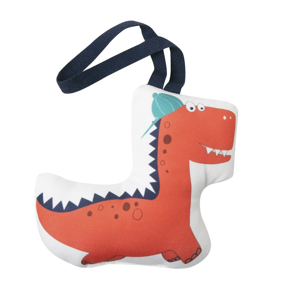 Dinosaur Tooth Fairy Pillow with Pocket and Handy Cotton Door Strap to Hang for Your Kids Teeth