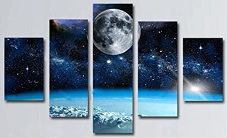 obella new top wall art canvas prints 5 pieces space universe