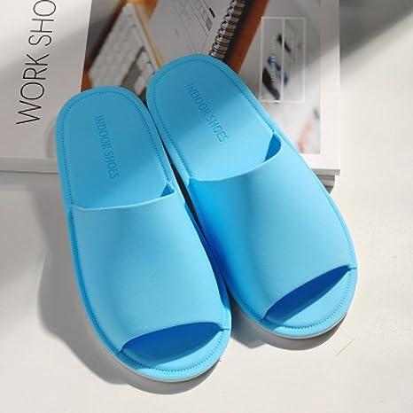 DHGH Zapatillas de baño de color sólido antideslizantes resistentes al desgaste zapatillas de viaje ligeras y