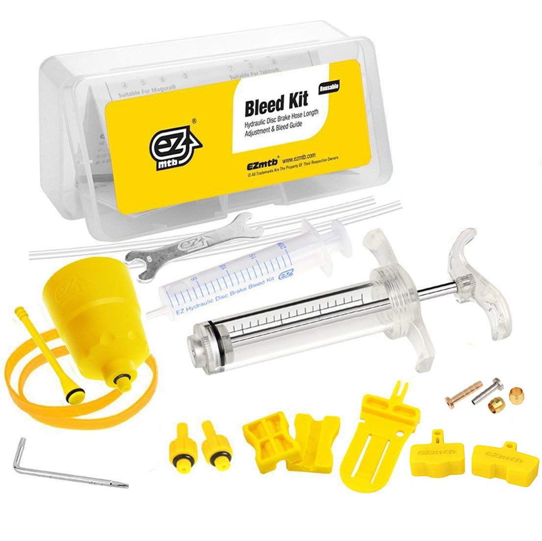 Revmega Hydraulic Mineral Disc Brake Bleed Kit Tool for Shimano - Fluid Not Included by Revmega