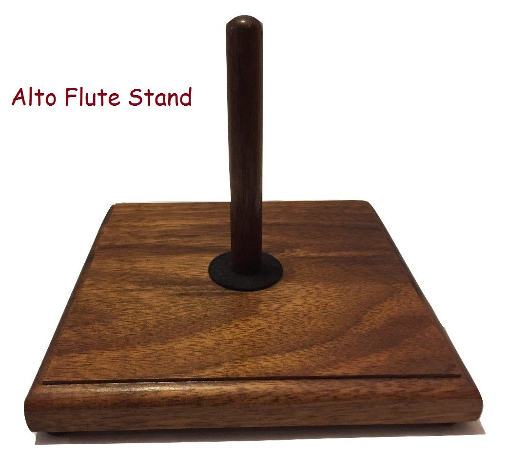 Flute Stands Solid Walnut (Single Base with Piccolo Peg Conical) Heritage Music Products FL-1A