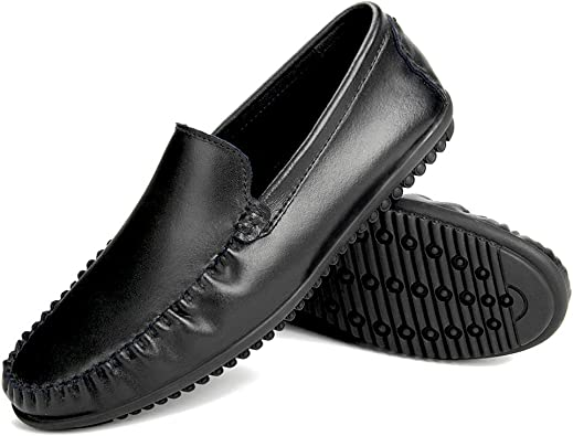 Harence Men's Comfortable Leather Slip