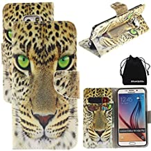 S6 Edge Case, DRUnKQUEEn PU Leather Credit Card Holder Case Stand Feature Wallet Type Flip Folio Cover - for G925 Samsung Galaxy S6Edge