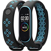 injoy Bands for Xiaomi Mi Band 4, Newest Sports Durable TPU Silicone Replacement Wristband Anti-Off Waterproof Bracelet…