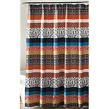 Amazoncom Lush Decor 16T000209 Bohemian Stripe Shower Curtain
