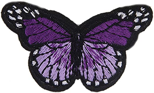 7x Butterfly Patches Clothes Bag Hat Badge Sew Iron on Appliques Decoration