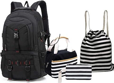 4 Teile Set Causal Rucksack Freizeitrucksack Daypacks