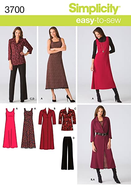 510c633453d5be Image Unavailable. Image not available for. Color  Simplicity Easy-to-Sew  Pattern 3700 Women s Pants