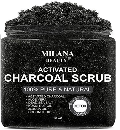 BEST-Activated-Charcoal-Scrub-10-oz-Pore-Minimizer-Reduces-Wrinkles-Acne-Scars-Blackheads-Anti-Cellulite-Treatment-Great-as-Body-Scrub-Facial-Scrub-Face-Cleanser