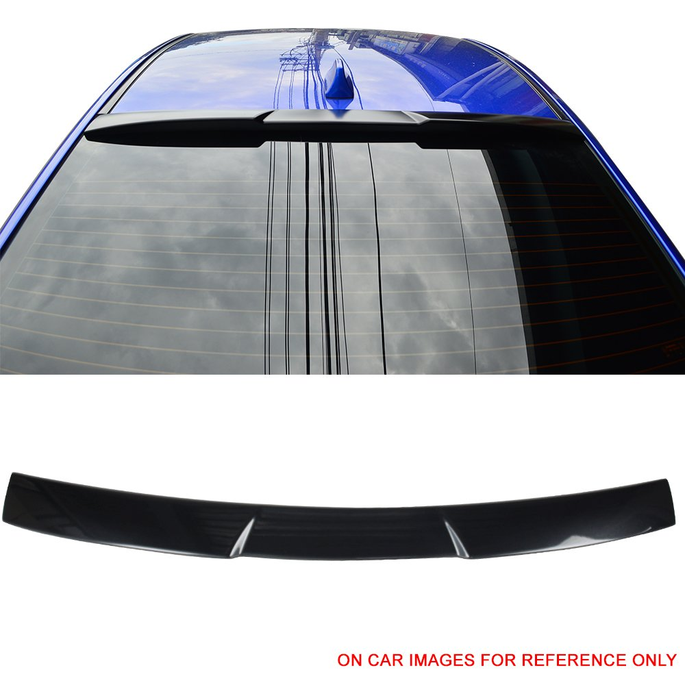 Pre-painted Roof Spoiler Fits 2015-2018 Subaru Impreza WRX STI | V Style #D4S Crystal Black Silica Pearl ABS Rear Wing Window Roof Top Spoiler other color available by IKON MOTORSPORTS | 2016 2017