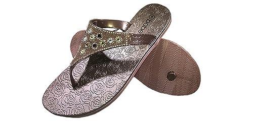 c6ad93763320a SLR BRANDS Women s Rhinestones Flip Flops Rubber Thong Flip Flop Fashion  Sandal for Women (US