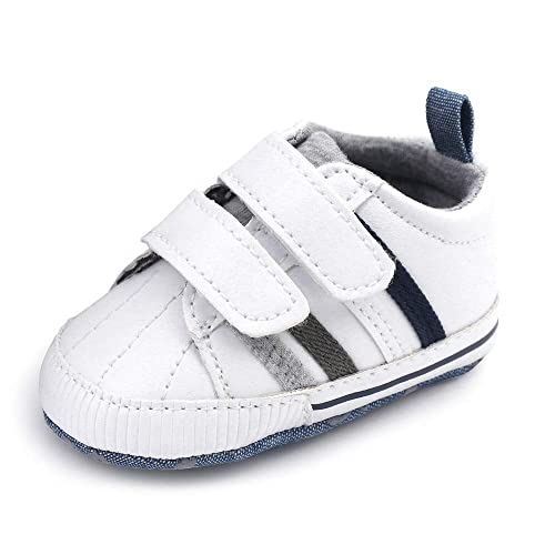 SHOFORT Toddler Sneakers Baby Boys Soft Sole Shoes Infant Sneakers Newborn  Prewalker First Walker Lightweight Shoes 4656e3ab6559