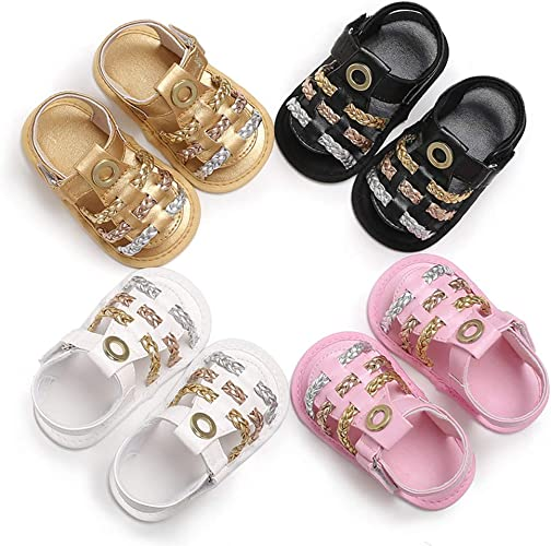 White 9-11M quyysvnvqt Comfortable Newborn Baby Shoes Infant Toddler Baby Girl Braided Faux Leather Crib Shoes Sandals Gift