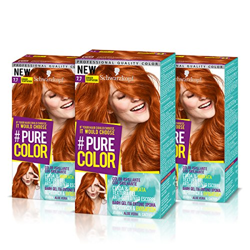 Schwarzkopf PURE COLOR Permanent Gel Coloration No.7.7 GINGER TEMPTATION ( 3er Pack ) by Schwarzkopf
