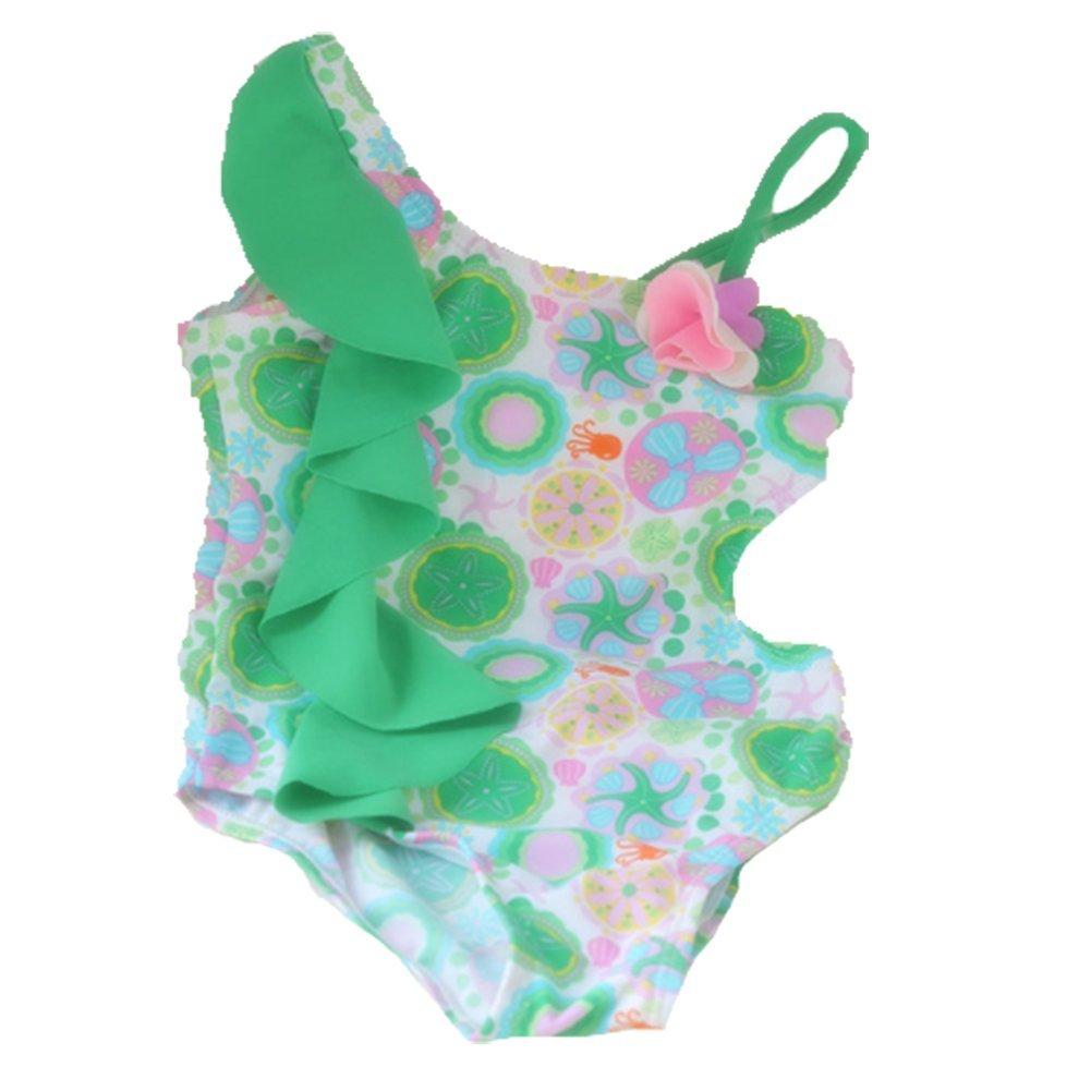 OPSUN Costume da bagno 1pezzo swimsuit per bambina stampato floreale