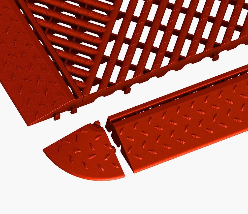 Rasenfliese 12, gr/ün 405 x 61 x 18 mm ab 4 St/ück Terrassenfliese Bodenrost Kunststoff Umrandung mit Schlitzen zu Bodengitter Balkonfliese