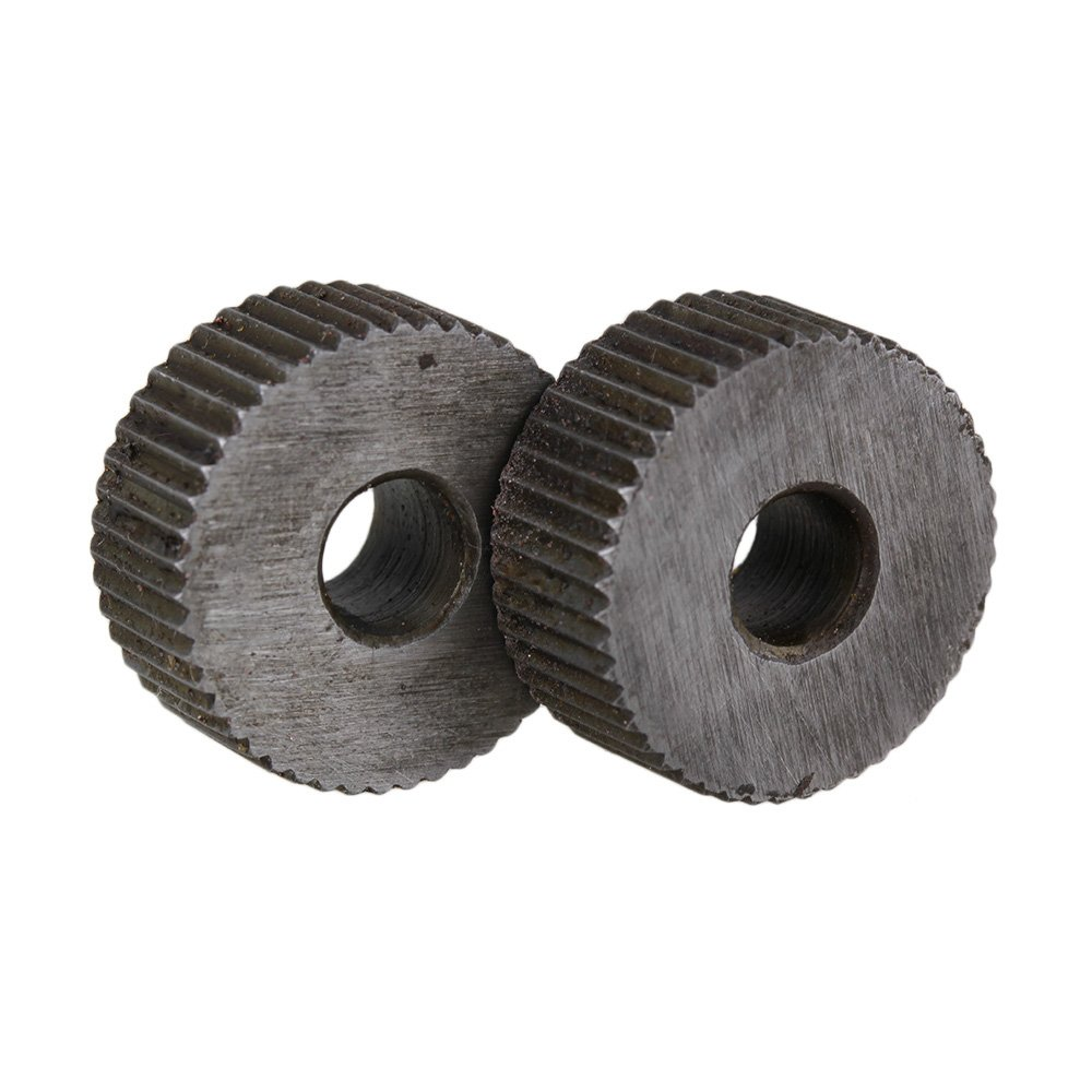 2P 1.2mm Pitch Knurling Tool Silver Single Straight Wheel Linear Knurl Wheel