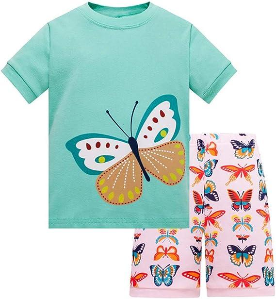 100/% Baumwolle Meerjungfrauen-Schlafanzug f/ür M/ädchen 2-teilig f/ür Kleinkinder