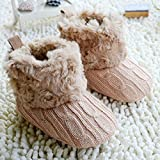 Cute! Baby Girl & Boy Knit Bowknot Fleece Snow Boot Soft Shoes 3-18M (0-3 months)