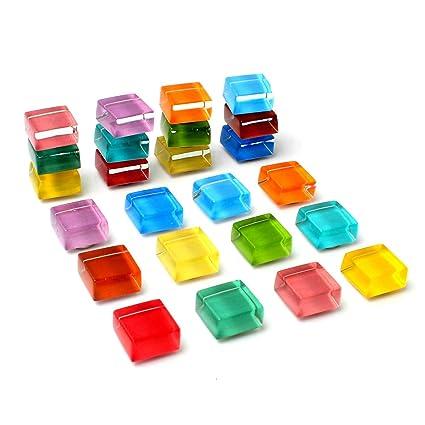 Deryun Pack de 24 imanes cuadrados multiusos para nevera ...