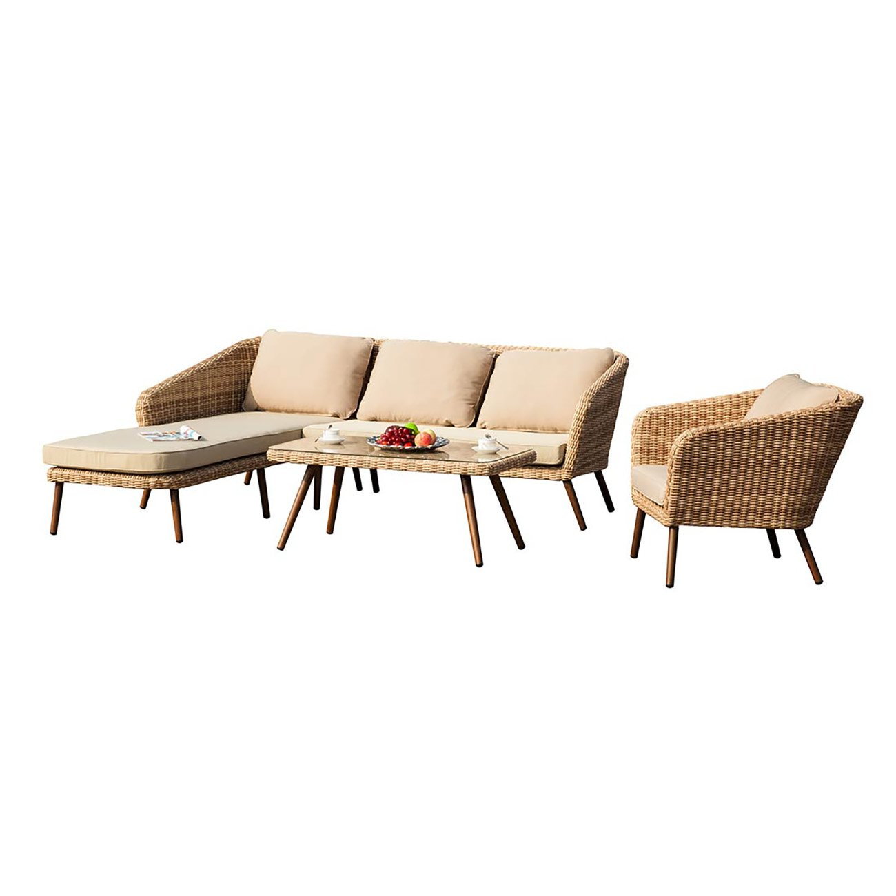 Exklusive Gartenmöbel OUTLIV. Kenia Loungemöbel Polyrattan 3-tlg ...