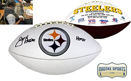 6068bb3f172 Image Unavailable. Image not available for. Color  Joe Greene Autographed Signed  Pittsburgh Steelers NFL Embroidered ...