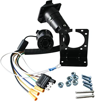 6136qzLdXEL._SX425_ amazon com new sun 4 wire flat adapter and 7 way blade vehicle end