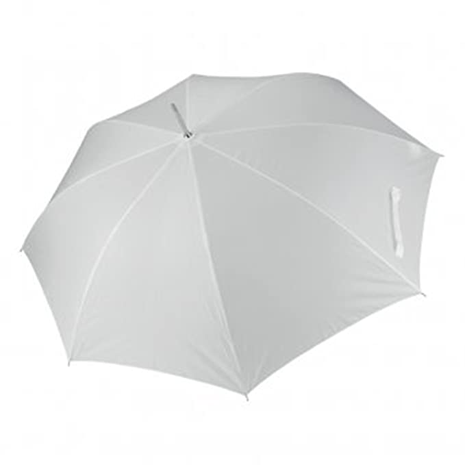 Kimood - Paraguas automático con cúpula transparente (One Size/Blanco)