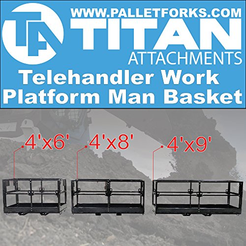 Titan 4'x8' Telehandler Work Platform Man Basket by Titan Attachments (Image #5)