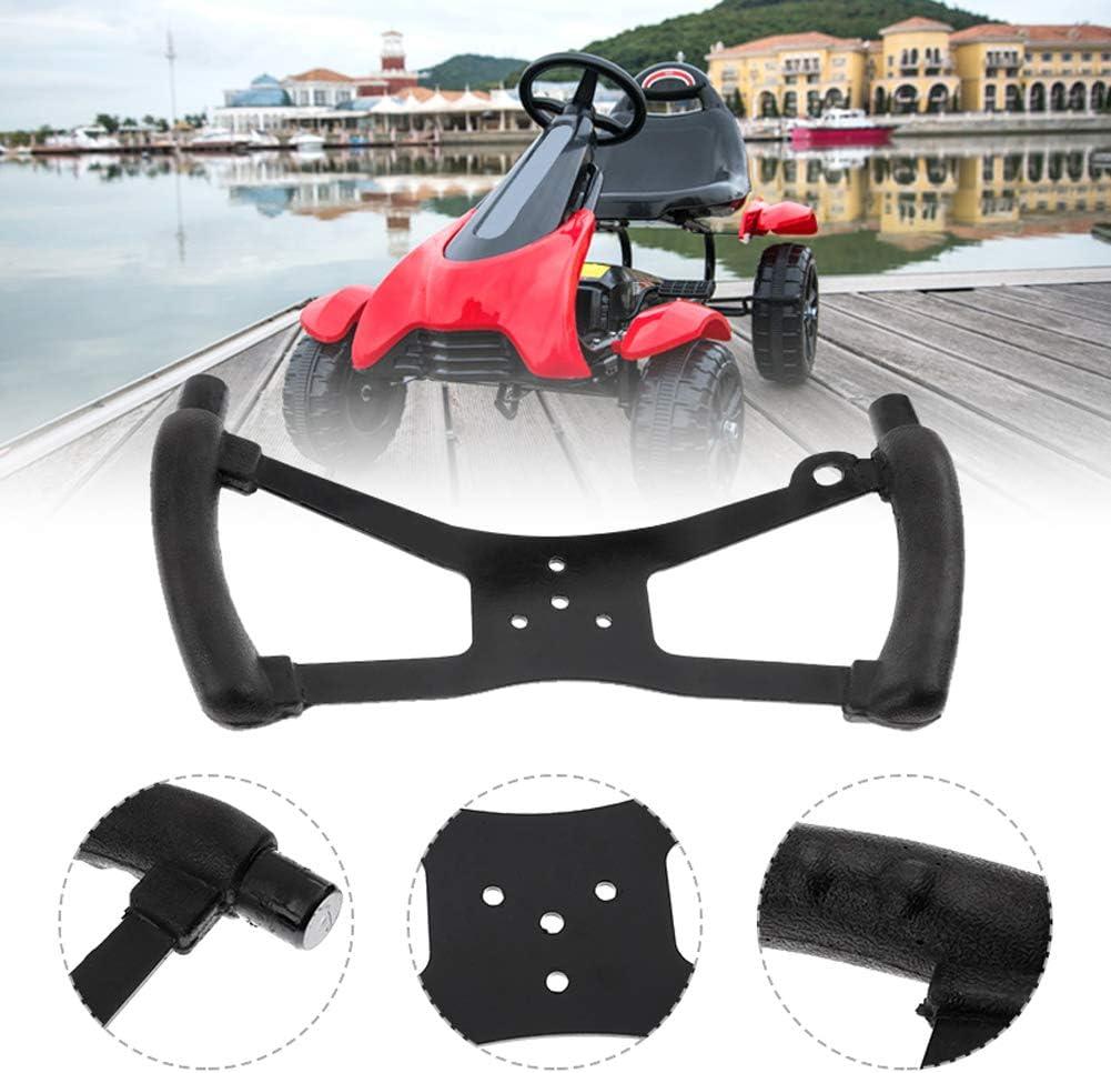 Riding Go Kart Fun Cart Black Racing Steering Wheel Butterfly Shape Accessories