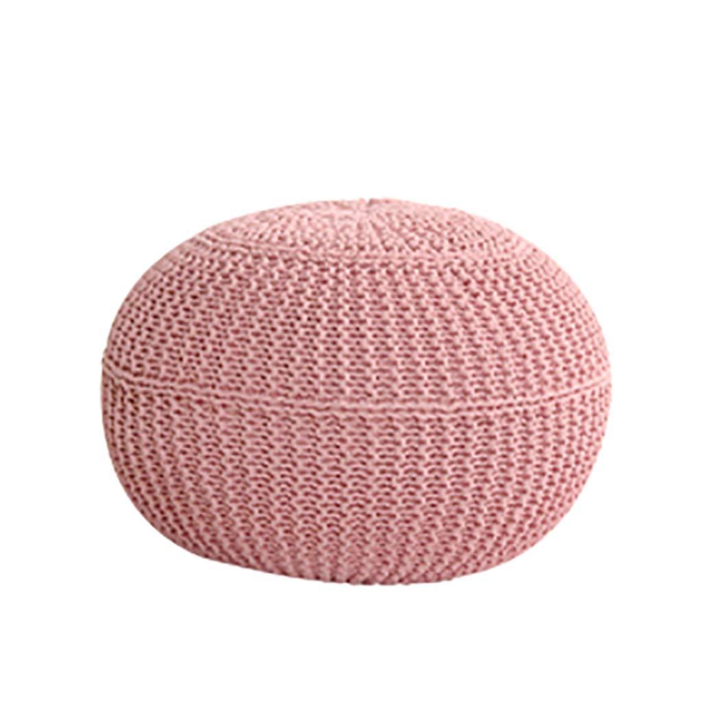 Faules Sofa Sitzsack, Balkon Mini Cotton Thread Sitzsack Sofa, Partikel Gefüllt, Ohne Knochen Design, Sieht Aus Wie Rund, Sehr Niedlich (Farbe   Gelb) Rosa
